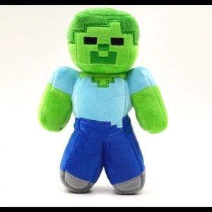 Minecraft Zombie Plush Doll Sz 15cm NEW